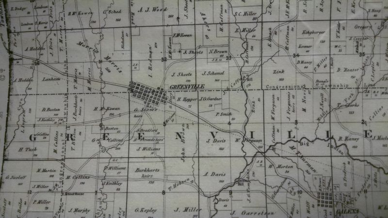 Greenville Township Plat Map (1859)