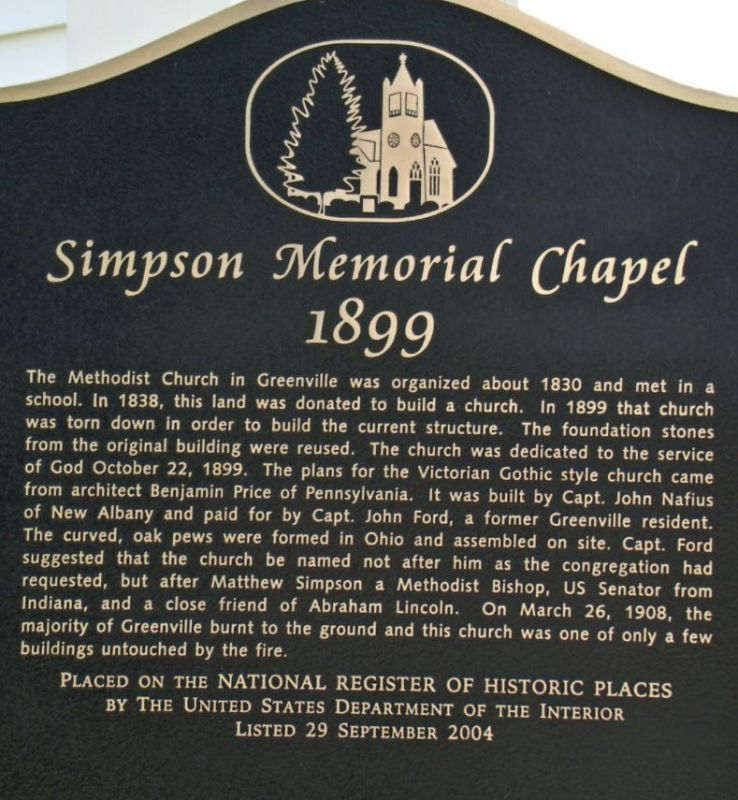 Simpson UMC Historic Marker